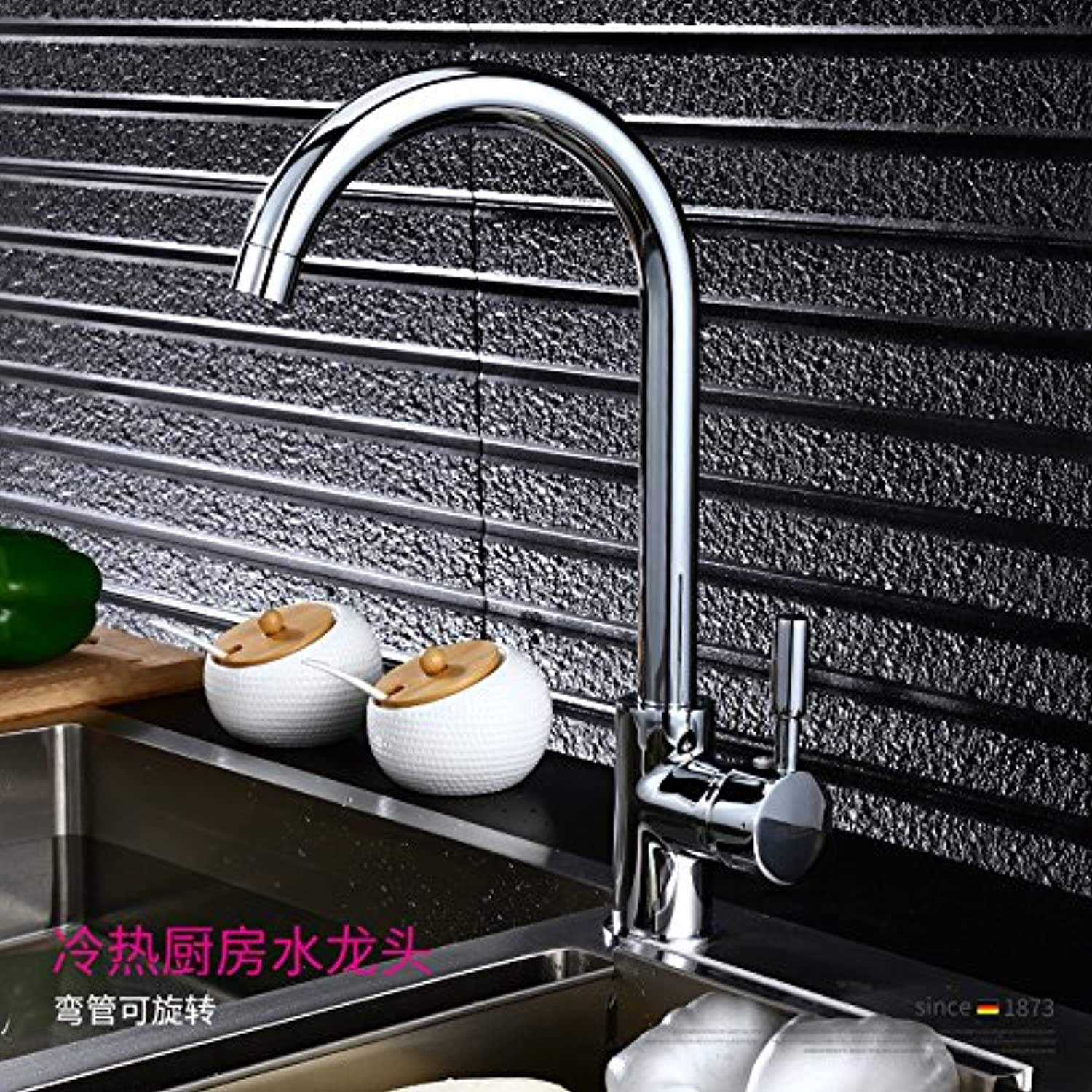 Gyps Faucet Single-Lever Washbasin Mixer Tap Bathroom Tap Kitchen Tap with Cold Water Taps Full Valve Body Brass Sink Tap Brass