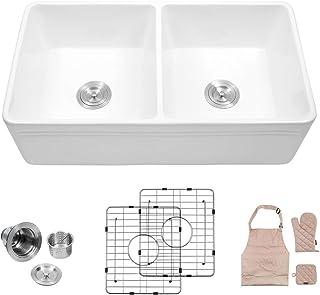 Amazing Amazon Com Farmhouse Apron Front Kitchen Sinks Kitchen Download Free Architecture Designs Salvmadebymaigaardcom