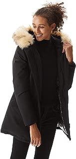 Molemsx Women's Down Jacket Warm Parka Down Coat with Fur Hood Puffer Jacket
