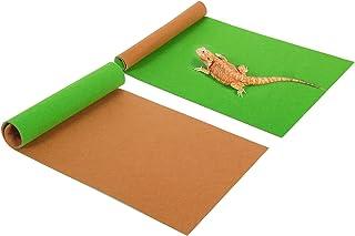 REPTI ZOO Reptile Carpet Pack of 2PCS, Terrarium Substrate Bedding Liner, Reversible Reptile Floor Mat for Bearded Dragon ...