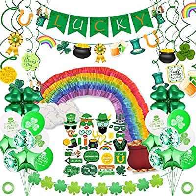 St Patricks Day Decorations - Includes 3 Banner...