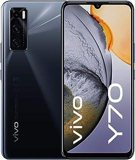 """vivo Y70 - Dual Nano Sim 4G Smartphone, 128GB, 6.44"""" 1080P AMOLED Halo Display (Gravity Black)"""
