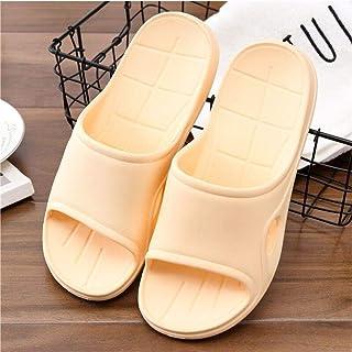 Comfortable/beautiful sandals and slippers Summer men and women EVA foam slippers sand hotel travel slippers indoor outdoor flip flops (Color : Yellow)
