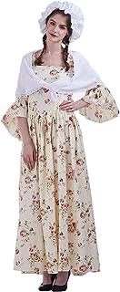 GRACEART Vestido de Traje de Mujer pionero Colonial Doncella Victoriana Disfraz