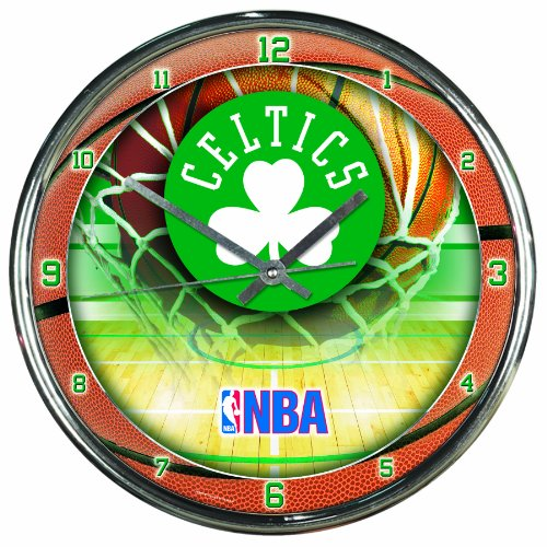 NBA Boston Celtics Chrome Clock, 12' x 12'