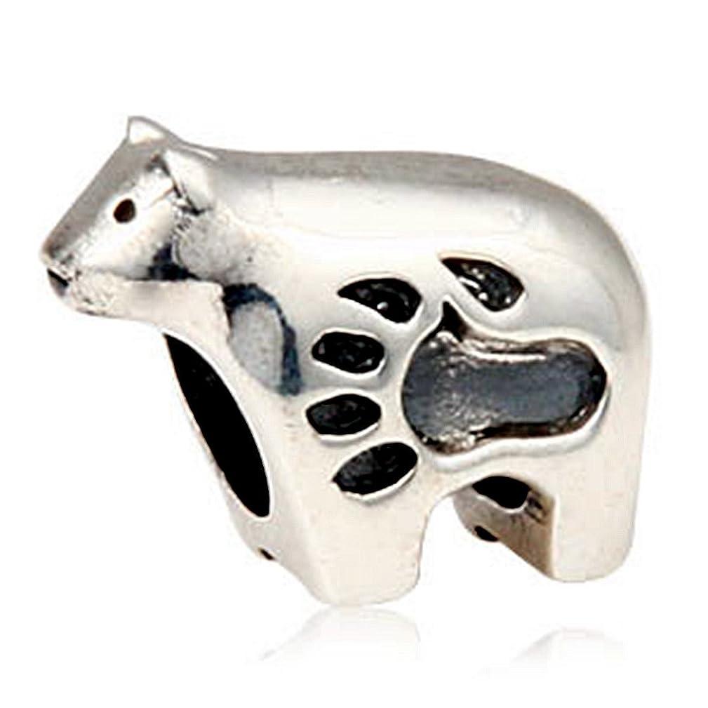 Fits DIY Charms Bracelet 925 Sterling Silver Animal Bead Polar Bear Bead Charms European DIY Jewelry Findings