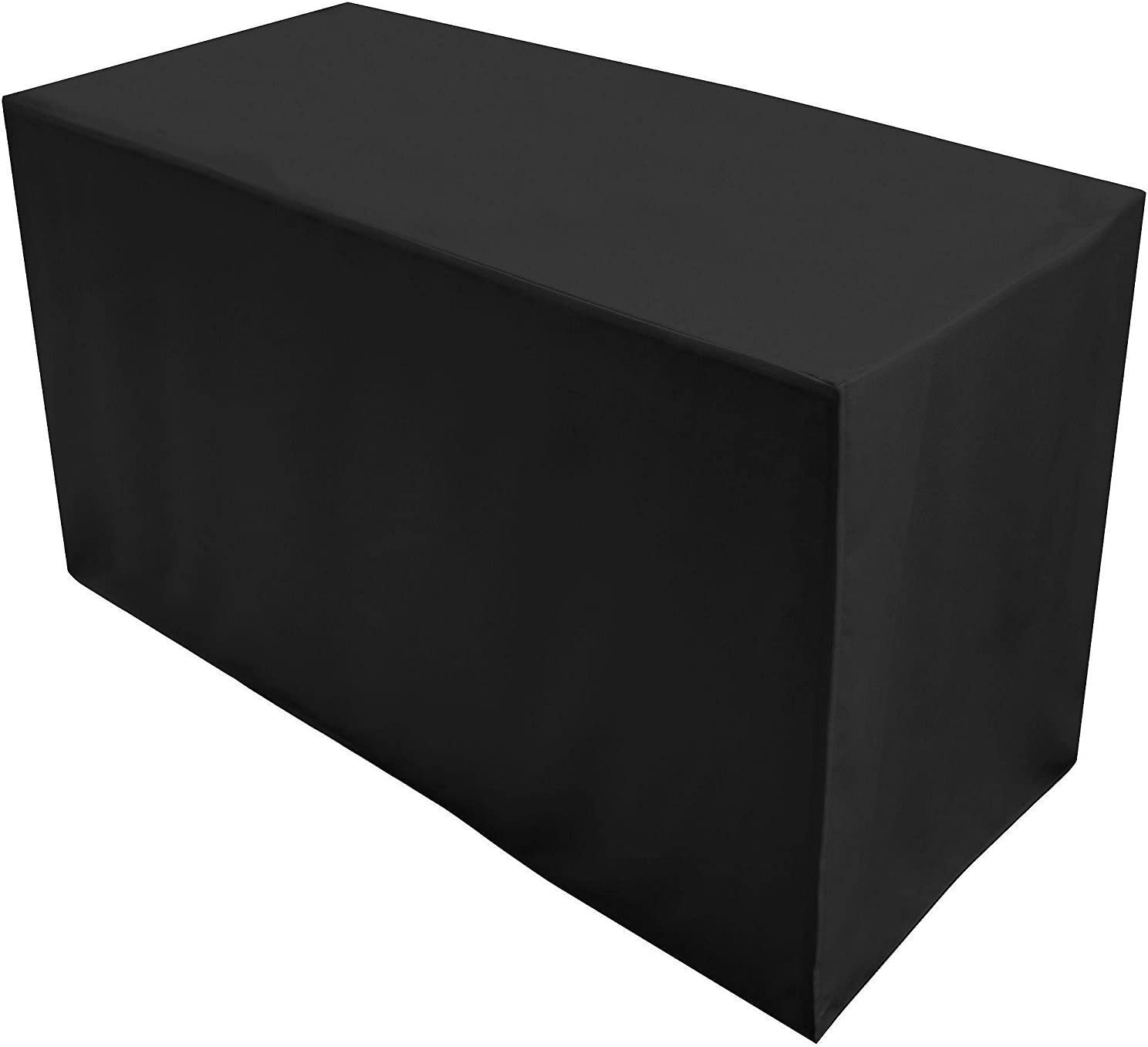 Amazon Com Folding Table Cover Fitted Tablecloth For 4 Foot Folding Table Black Home Kitchen