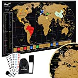 TooPopz® Mappa del Mondo da Grattare MuP! 84x44 cm | Design Italiano di 2a Generazione, Grande Planisfero da Parete, Idee Regalo Originali per Viaggiatori, Cartina Geografica Mondo, Scratch World Map