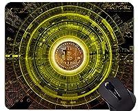 カスタマイズされたマウスパッド、マネービットコインパラグラフパーソナライズされた長方形のゲーミングマウスパッド