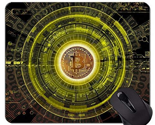 Tappetini per Mouse Personalizzati, Puntini per Mouse con Puntini Personalizzati per rettangolo Bitcoin Money