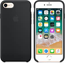 Funda para iPhone 7/8 Carcasa Silicona Suave Colores del Caramelo con Superfino Pelusa Forro,Anti-rasguños Teléfono Caso para Apple iPhone 7/8 (iPhone 7/8, Negro)