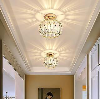 Plafonnier moderne en cristal 12 W pour couloir, escalier, entrée, chambre à coucher, salon, bar, restaurant, cuisine, caf...