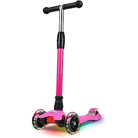 IMMEK - Patinete infantil con 3 ruedas para principiantes, para niños de 3 a 12 años, ideal para el aprendizaje, manillar ajustable y ruedas ...
