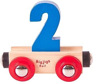Bigjigs Rail Rail Name Number 2 (Colors Vary)