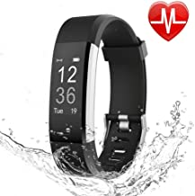 LETSCOM Fitness Tracker HR, Activity Tracker Watch with Heart Rate Monitor, Waterproof Smart Fitness Band with Step Counter, Calorie Counter, Pedometer Watch for Kids Women and Men