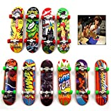iwobi Finger Skateboards, 10pcs Mini diapasón, Patineta de Dedos Profesional Juegos de Deportes Niños