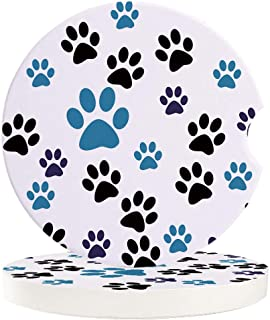 3D Rose Paw Prints of Animal Trends Soft Coasters Multicolor