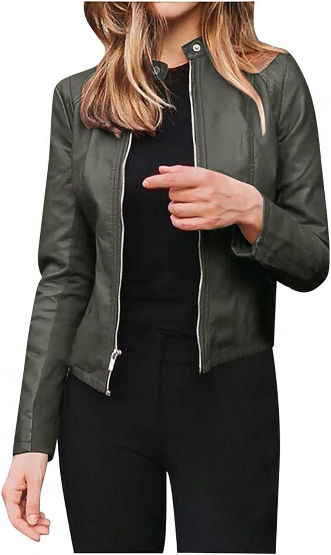 Hengshikeji Fall Genuine Jackets Branded goods for Women Zipper Retro Bom Leather Faux