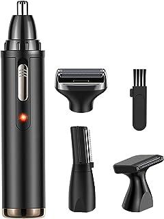 comprar comparacion Babacom Cortapelos Nariz y Orejas, 4 en 1 Multifuncional Recortador Pelos Nariz/Orejas/Ceja/Barba, USB Recargable Grooming...