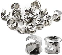 15 stuks meubelverbindingscamslot, 12 mm x 11 mm, boogtop, zilvertoon. voor kastlade dressoir en kast meubelpaneel aanslui...