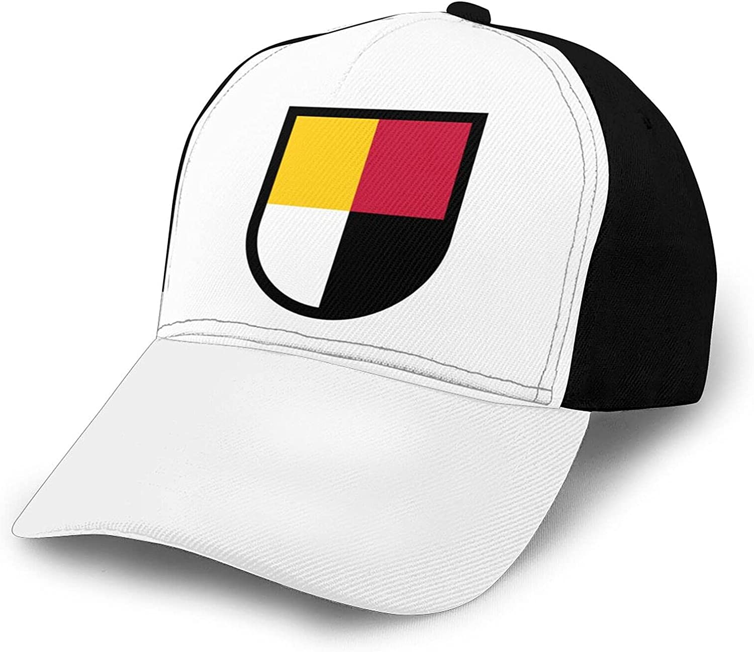 Inspier White 3rd Special Forces Group Beret Flash Baseball Hat Splicing Curved Brim Unisex Breathable Comfortable Baseball Cap Black