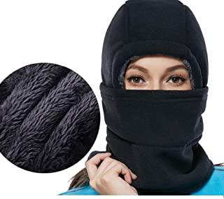SYQ Super Thick Adjustable Lightweight Soft Balaclava Scarf Winter Windproof Ski Face Mask for Men/Women/Kids,Cold Weather...