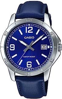 ساعة كاسيو للرجال موديل MTP-V004L-2B (كاجوال، أنالوج)