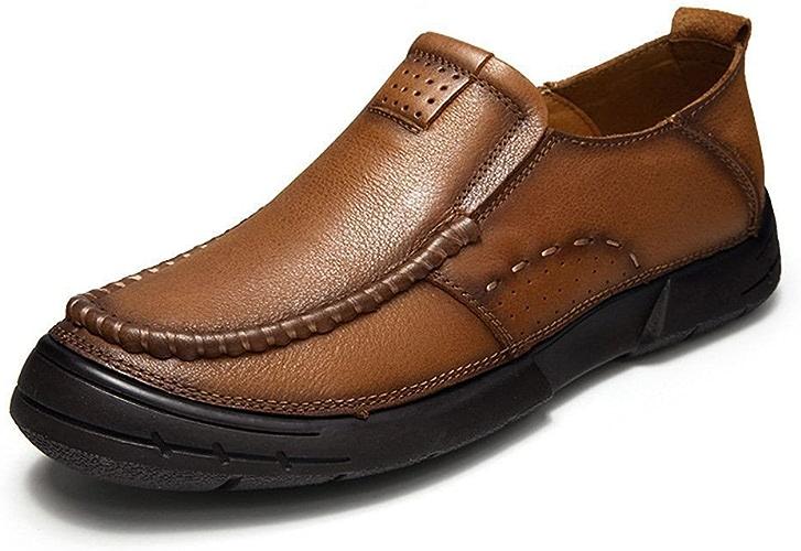 Les hommes les chaussures en cuir, les chaussures en cuir,marron,quarante - quatre