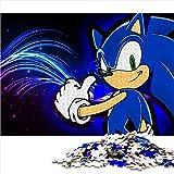Visionpz Puzzle de 1000 Piezas para Adultos y Adolescentes Sonic Adventure 2 Juegos de Rompecabezas de Temas Sonic Rompecabezas Juegos Familiares a Gran Escala Regalos 38x26cm