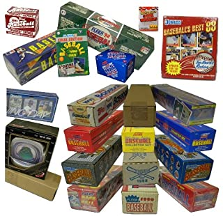 Three Assorted Vintage Baseball Card Sets from the 80`s & 90`s. At least One Set is 25 Years Old! Over 1000 cards!! Sets contain many Rookies & Stars. Includes such manufacturers as Topps, Donruss, Fleer, Score, Upper Deck, plus many more.