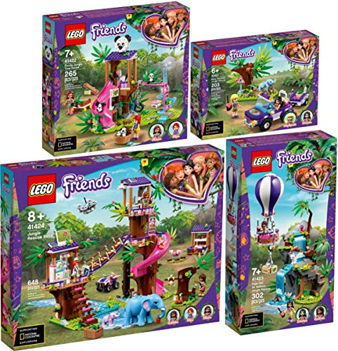 Lego® Friends 4er Set 41421 41422 41423 41424 Rettung des Elefantenbabys + Panda-Rettungsstation + Tiger-Rettung + Tierrettungsstation