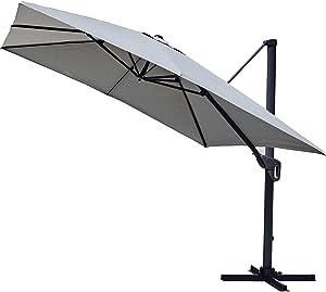 Ozalide Parasol déporté Cassis - 300 x 300 cm - Gris Perle
