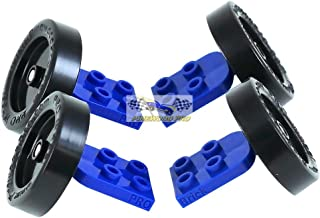 Pinewood Pro PRO Brick Wheel - Axle Assembly for Lego Derby Car Racing (Set of 4) from