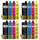 GO Inks e-t1306-set-4Pack de 6cartuchos de tinta compatible con Impresora B42WD/BX525WD/BX535WD negro/Cyan/Magenta/Amarillo