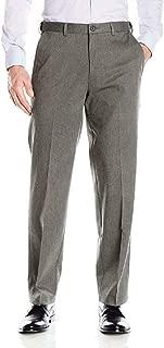 Haggar Men's Premium No-Iron Classic-Fit Expandable-Waist Pleat-Front Pant, HTR Gray