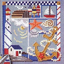 Seaside Sampler Beaded Counted Cross Stitch Kit Mill Hill MH147105 Buttons & Beads 2007 Spring