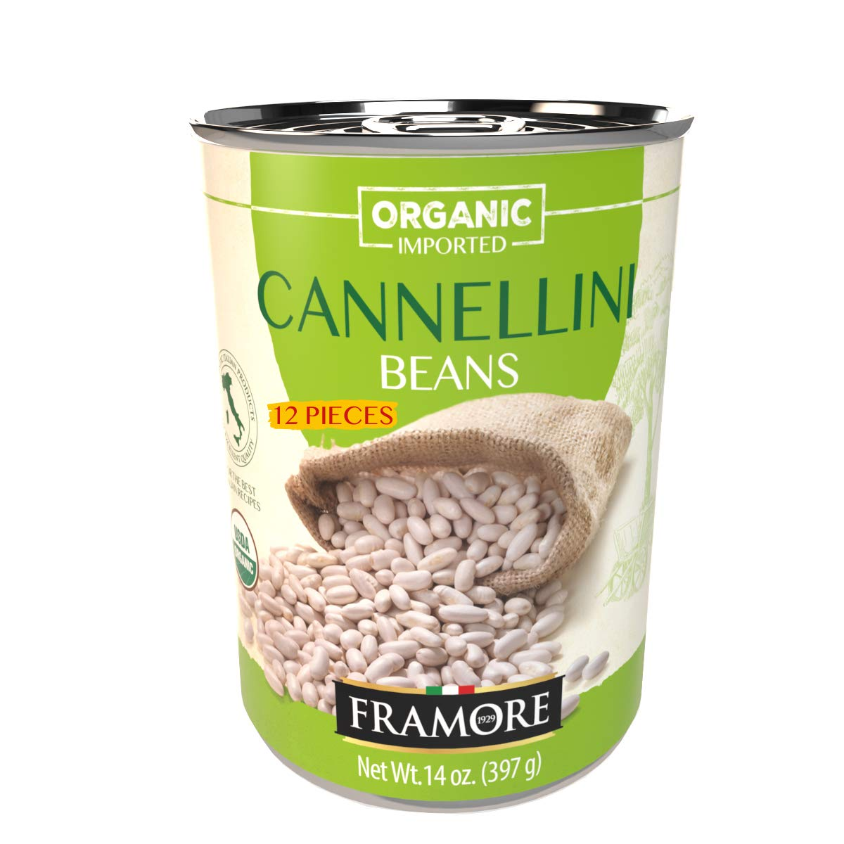 FRAMORE Imported Authentic Italian Organic Popular Japan Maker New overseas Cannellini Canned Whi