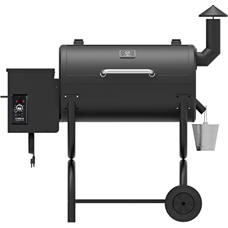 Z GRILLS ZPG-550B 2020 Upgrade Wood Pellet Grill & Smoker 8 in 1 BBQ Grill Auto Temperature Control, 550 sq, 538sq in Black