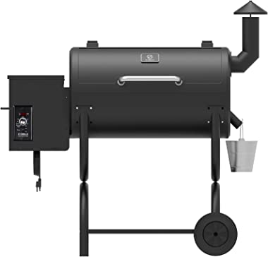 Z GRILLS ZPG-550B 2020 Upgrade Wood Pellet Grill & Smoker 8 in 1 BBQ Grill Auto Temperature Control, Cooking Area, 550 sq
