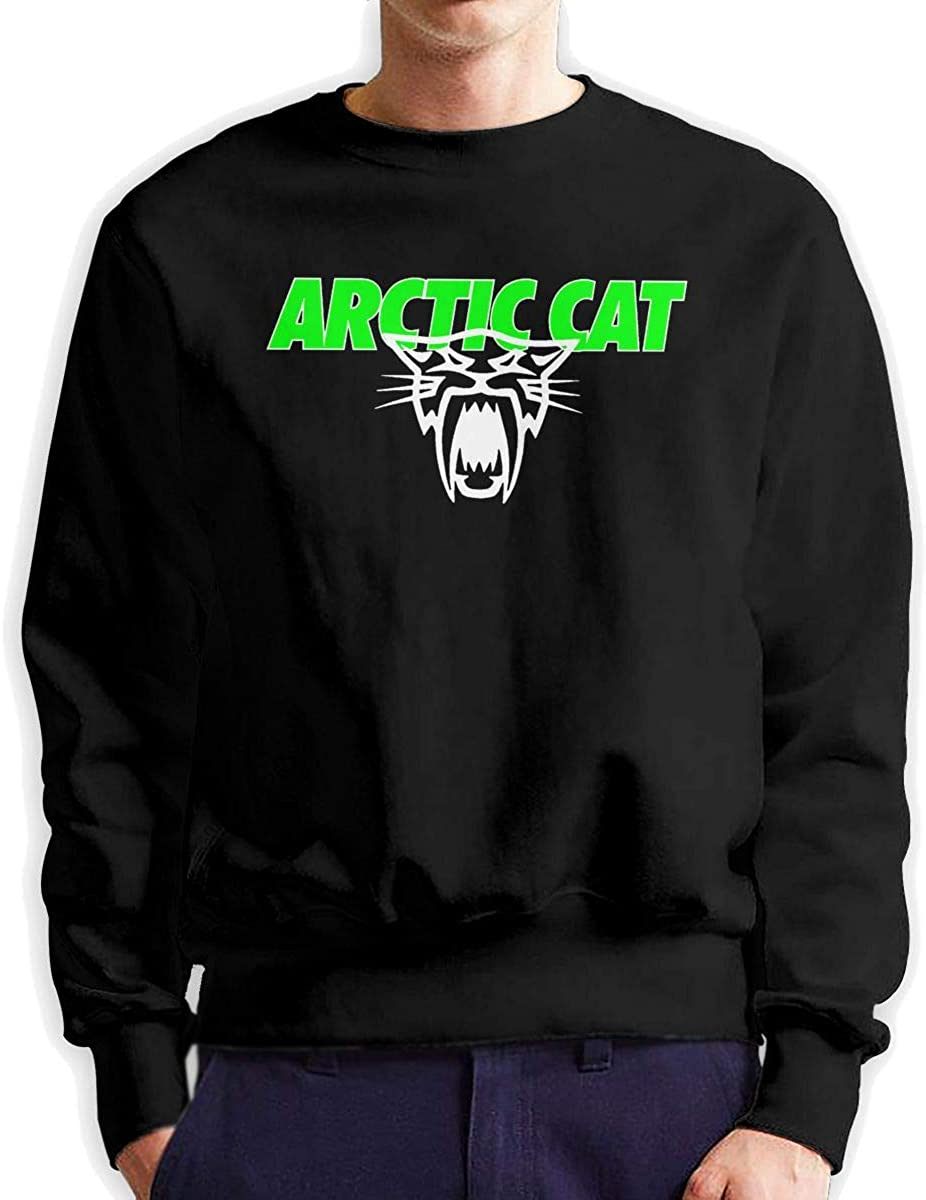 Easy-to-use Rufischi Men's Arctic Cat Skull Max 63% OFF Logo Sleeve Long Sweats Crewneck