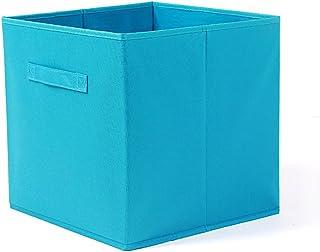 Onlyup Panier de rangement en tissu - Sans couvercle - Système de rangement flexible - Pour étagère, armoire, bleu (31 x 3...