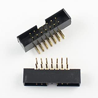 100Pcs 2mm 2.0mm Pitch 14 Pin Right Angle Male Shrouded IDC Box Header Connector