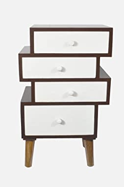 GLORIEUX ART Bedside Table / Storage Cabinet Drawer for Bed Room, living room & Office in ( Antique Finish )