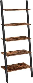 HOOBRO Estantería de Escalera Librería de 5 estantes Estilo Industrial Estructura Estable Montaje Fácil para Sala de ...