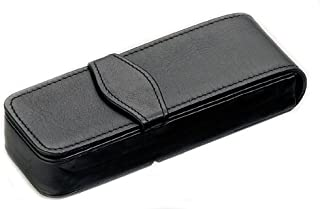 Black Triple Leather Pen Case by Diplomat