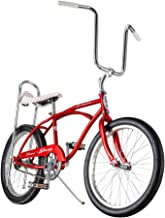 Schwinn Classic Sting-Ray Boy's Single-Speed Bicycle, Featuring 13-Inch/Small Step-Over Steel Frame, Rear Coaster Brake, High-Rise Ape Handlebars, and 20-Inch Wheels, Red