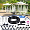 """Homga Misting Cooling System 32.8FT(10M) with 12 Copper Metal Mist Nozzles and a Connector(3/4"""") for Trampoline Patio Misting Micro Flow Watering Automatic Distribution System"""