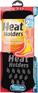 Heat Holders - Mens Thick 2.3 TOG Non Skid Thermal Slipper Socks with Grippers
