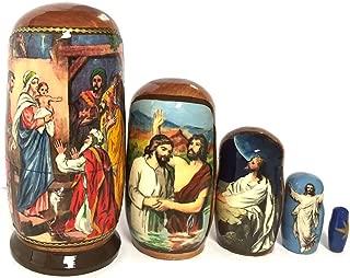 Alexandra Int'l Russian Matryoshka Nativity Scene Nativity of Christ Icon Nesting Doll 4 Inch