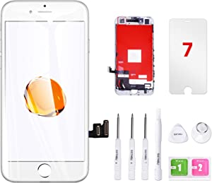 VANYUST for iPhone 7 Screen Replacement, LCD Display Touch Screen Digitizer Assembly with Tool Kits Compatible for iPhone 7 4.7 inch white